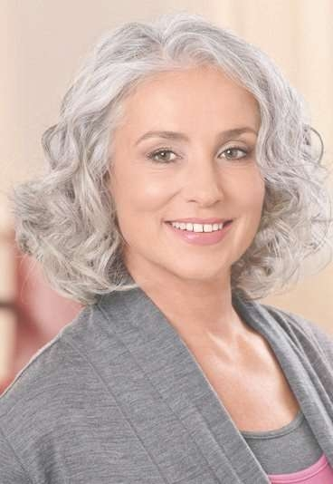 272 Best Gray & Over 50 Hair Images On Pinterest | Grey Hair For Current Medium Haircuts With Gray Hair (View 5 of 25)