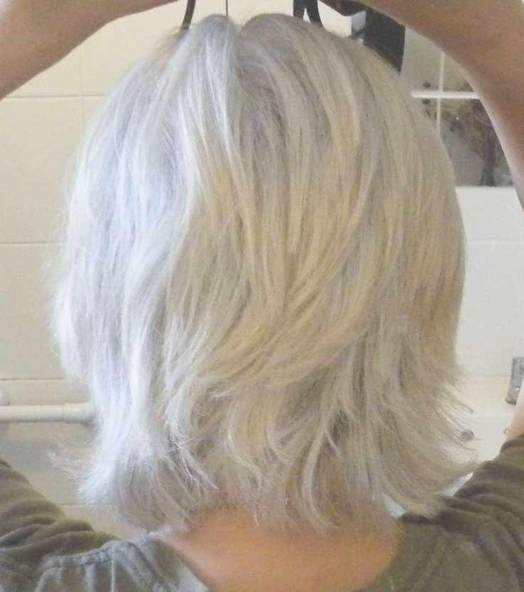 272 Best Gray & Over 50 Hair Images On Pinterest | Grey Hair With Most Current Medium Haircuts For Grey Hair (View 2 of 25)