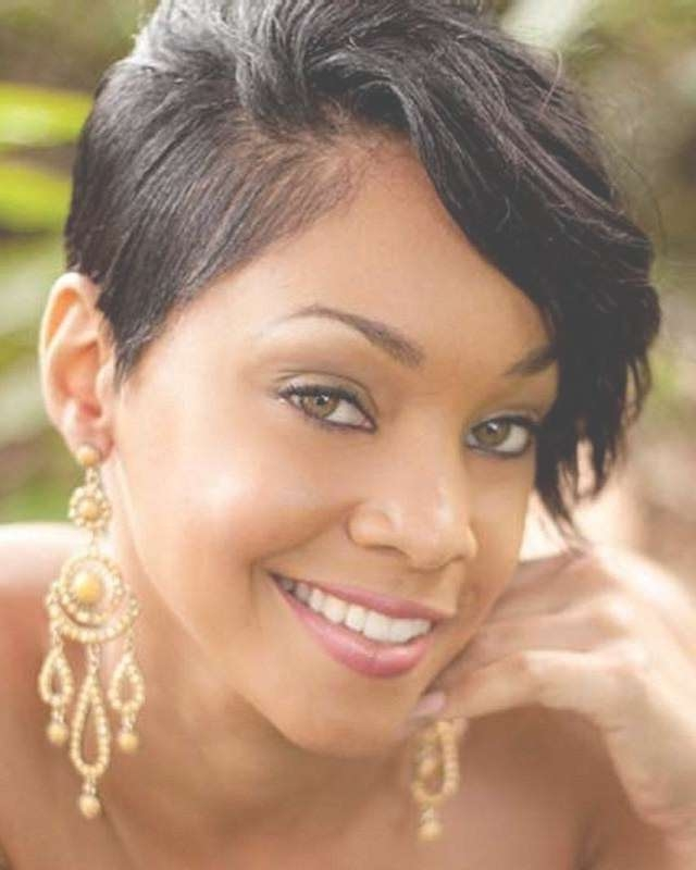 28 Trendy Black Women Hairstyles For Short Hair – Popular Haircuts Intended For Newest Medium Haircuts For African American Women With Round Faces (View 24 of 25)
