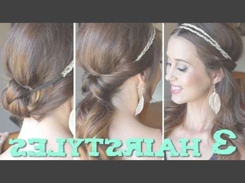 3 Easy Back To School Hairstyles Using A Headband! – Youtube With Regard To Most Up To Date Cute Medium Hairstyles With Headbands (View 4 of 15)