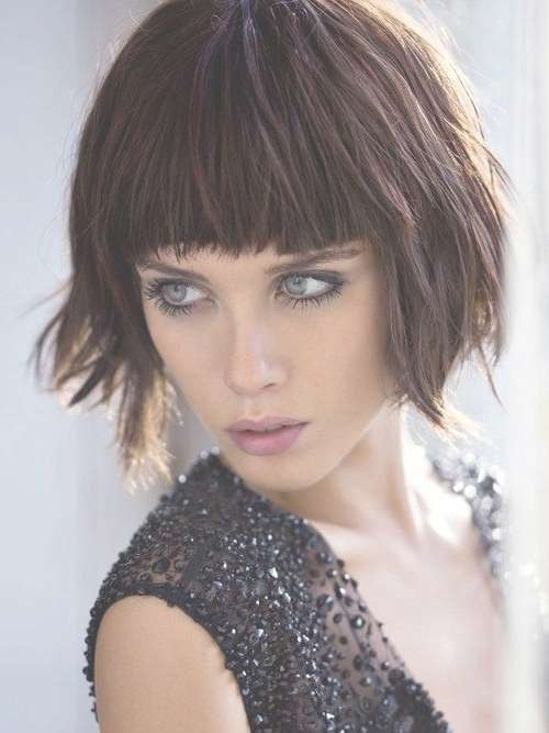 30 Best Bob Hairstyles For Short Hair – Popular Haircuts Regarding Bob Hairstyles With Bangs (View 4 of 25)