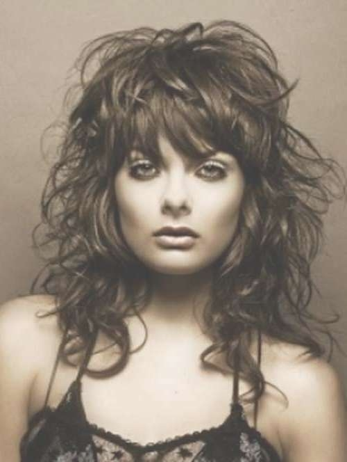 30 Best Curly Hair With Bangs | Hairstyles & Haircuts 2016 – 2017 Inside Latest Curly Medium Hairstyles With Bangs (View 16 of 25)