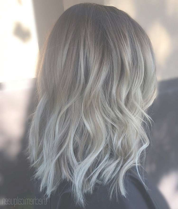 30 Chic Everyday Hairstyles For Shoulder Length Hair: Medium Inside Recent Medium Haircuts With Gray Hair (View 9 of 25)