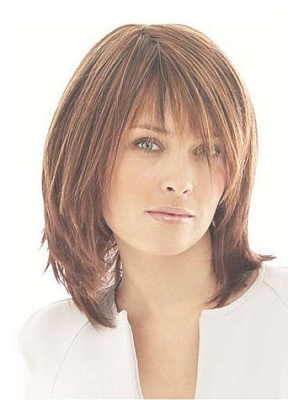 30 Hairstyles For Women Over 50 | Medium Length Hairstyles, 50Th Intended For Current Ladies Medium Hairstyles With Fringe (View 2 of 15)