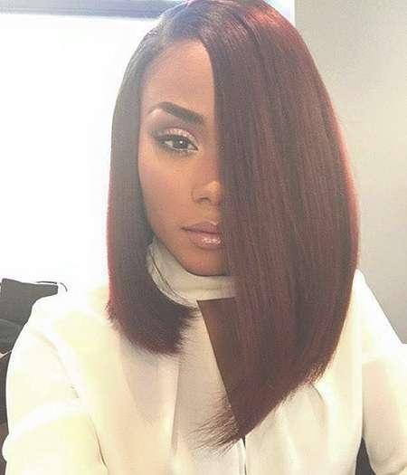 30+ Popular Bob Haircuts For Black Women 2017 | Bob Hairstyles Regarding One Side Longer Bob Haircuts (View 11 of 25)