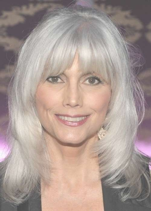 30 Stylish Gray Hair Styles For Short And Long Hair Throughout Best And Newest Medium Haircuts For Coarse Gray Hair (View 11 of 25)