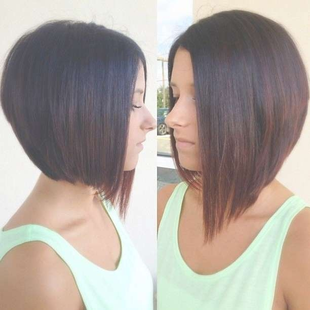 30 Super Hot Stacked Bob Haircuts: Short Hairstyles For Women 2018 Within Short Long Bob Hairstyles (View 8 of 25)