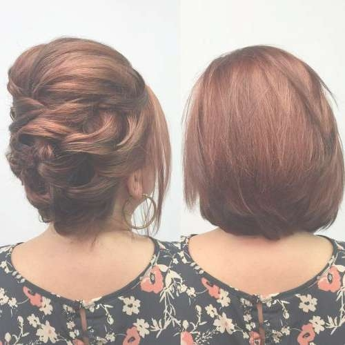 30 Swanky Braided Hairstyles To Do On Short Hair – All Hairstyles Within Bob Hair Updo (View 23 of 25)