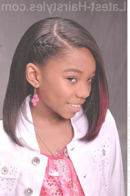 30 Top Shoulder Length Hairstyles For Black Women In 2018 Throughout Current Medium Haircuts For Black Teens (View 15 of 15)
