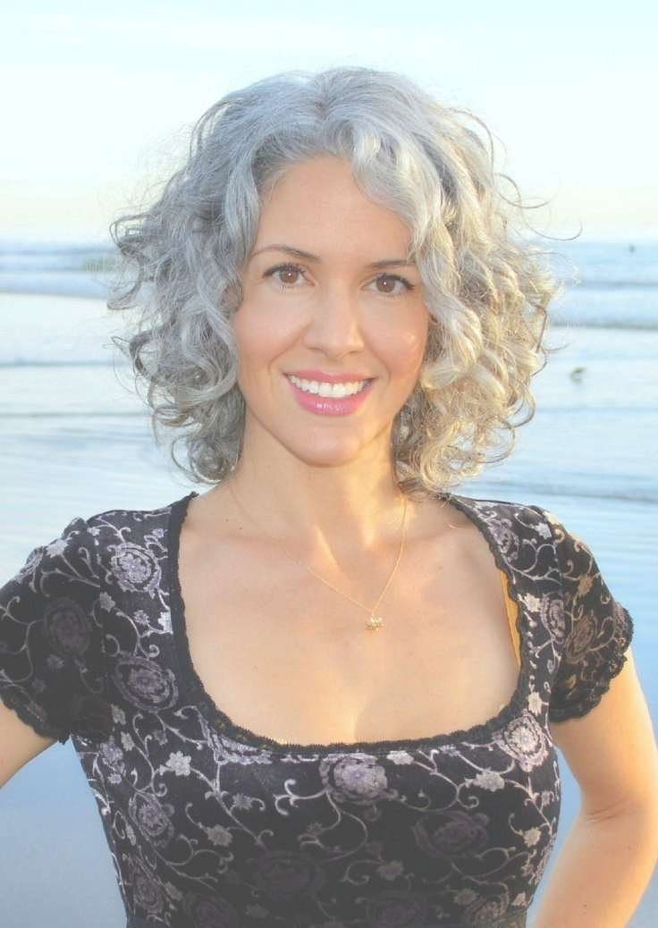 31 Best Curly Grey Hair Images On Pinterest   White Hair, Going With Regard To Most Recently Medium Haircuts For Grey Haired Woman (View 20 of 25)