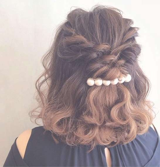 31 Half Up, Half Down Hairstyles For Bridesmaids | Stayglam With Regard To Newest Half Up Medium Hairstyles (View 10 of 25)