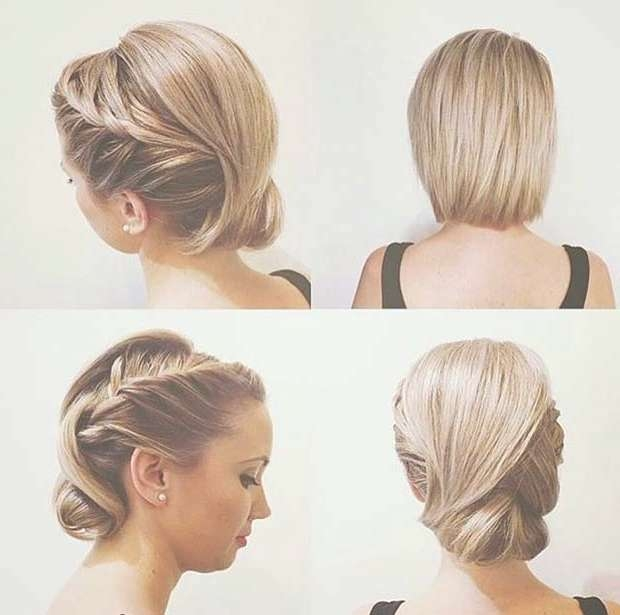 31 Wedding Hairstyles For Short To Mid Length Hair   Page 2 Of 3 With Regard To Bob Hair Updo (View 8 of 25)