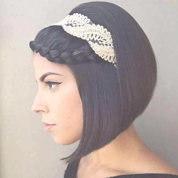 31 Wedding Hairstyles For Short To Mid Length Hair | Stayglam Regarding Best And Newest Medium Haircuts With Headbands (View 24 of 25)