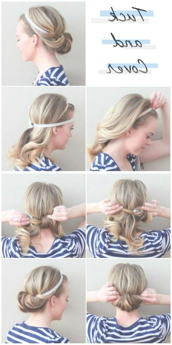 32 Chic 5 Minute Hairstyles Tutorials You May Love | Styles Weekly Inside Most Recent Cute Medium Hairstyles With Headbands (View 5 of 15)