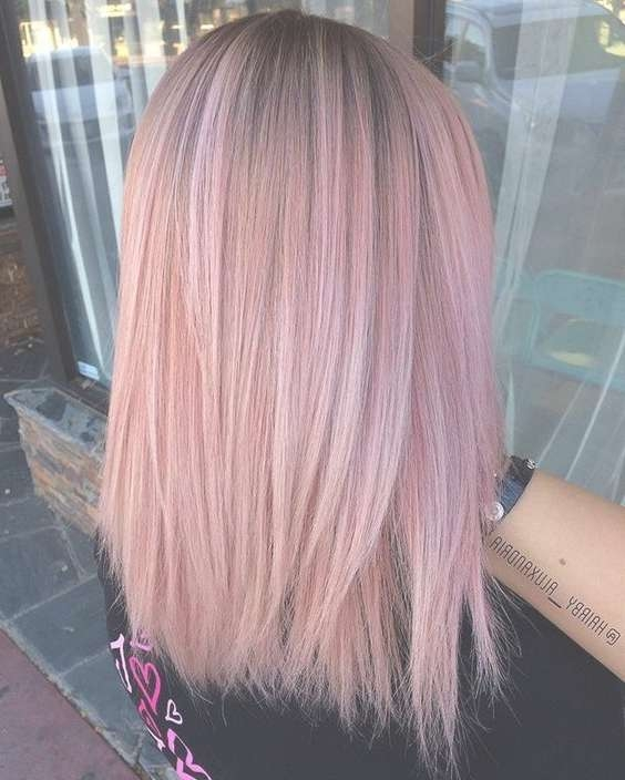 32 Pretty Medium Length Hairstyles 2017 – Hottest Shoulder Length For Best And Newest Pink Medium Hairstyles (View 7 of 15)