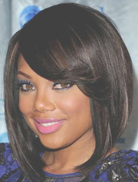 34 African American Short Hairstyles For Black Women | Circletrest Within Recent Medium Hairstyles For Round Faces African American (View 7 of 15)