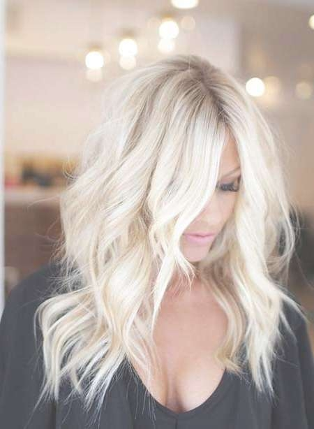 34 Inspiring Blonde Mid Length Hairstyles | Hairstyles & Haircuts Throughout Most Recent Platinum Blonde Medium Hairstyles (View 6 of 15)
