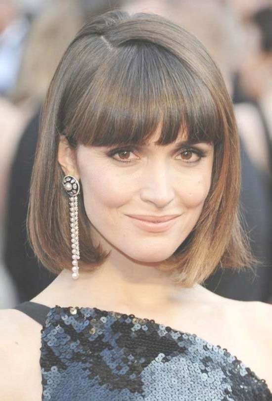 35 Awesome Bob Haircuts With Bangs – Makes You Truly Stylish Regarding Blunt Bob Haircuts (View 24 of 25)