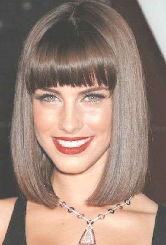35 Awesome Bob Haircuts With Bangs – Makes You Truly Stylish Within 2018 Medium Haircuts With Long Fringe (View 19 of 25)