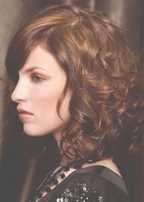 35 Medium Length Curly Hair Styles | Hairstyles & Haircuts 2016 – 2017 Inside Most Recently Curly Hair Medium Hairstyles (View 17 of 25)