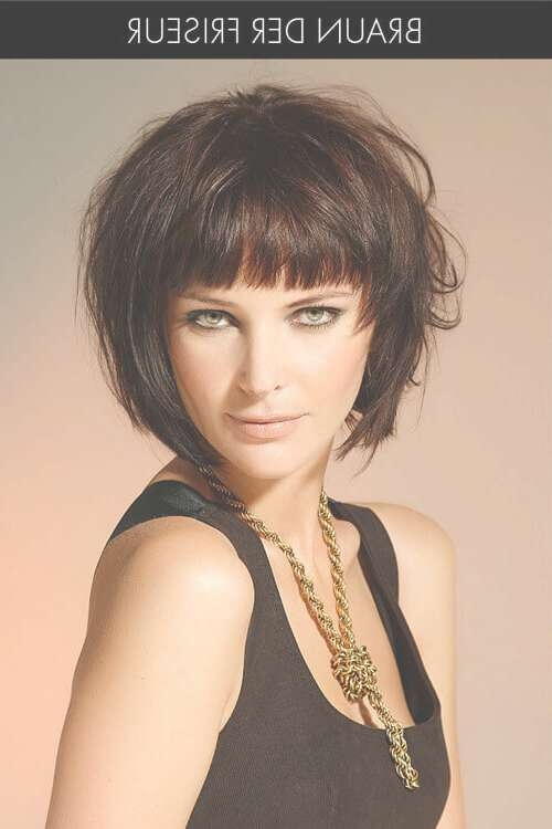 35 Perfect Short Hairstyles For Fine Hair (2018 Trends) Intended For Bob Hairstyles With Bangs (View 15 of 25)