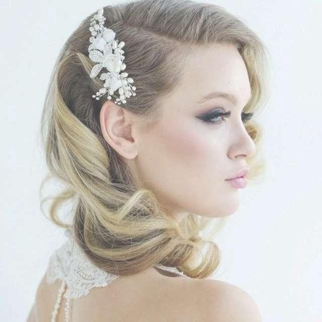 35 Romantic Wedding Updos For Medium Hair – Wedding Hairstyles Regarding Latest Wedding Medium Hairstyles (View 6 of 25)
