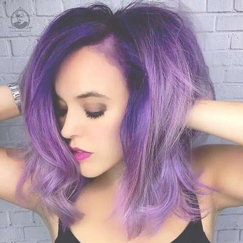 35+ Short To Medium Hairstyles 2017 | Short Hairstyles 2016 – 2017 In Most Popular Purple And Black Medium Hairstyles (View 15 of 15)