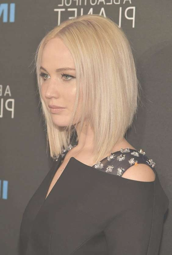 36 Hottest Bob Hairstyles 2017 – Amazing Bob Haircuts For Everyone Within Jennifer Lawrence Bob Haircuts Jennifer Lawrence (View 5 of 25)