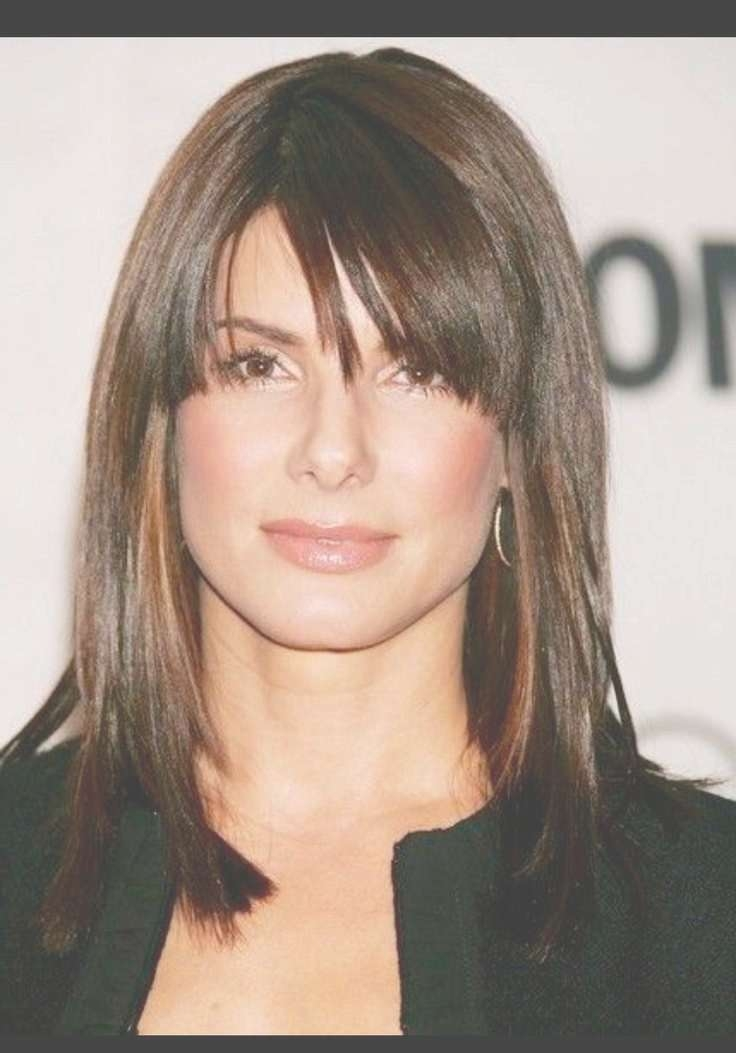 38 Best Fringe And Face Framing Images On Pinterest | Hair Cut Intended For Newest Medium Hairstyles For Women With Bangs (View 17 of 25)