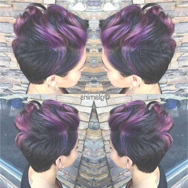 39 Best Hair Ideas Images On Pinterest | Colourful Hair, Short Intended For Latest Purple And Black Medium Hairstyles (View 11 of 15)