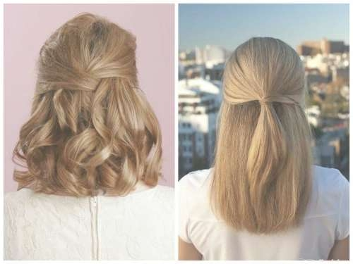 39 Half Up Half Down Hairstyles To Make You Look Perfect With Most Recently Half Up Medium Hairstyles (View 2 of 25)