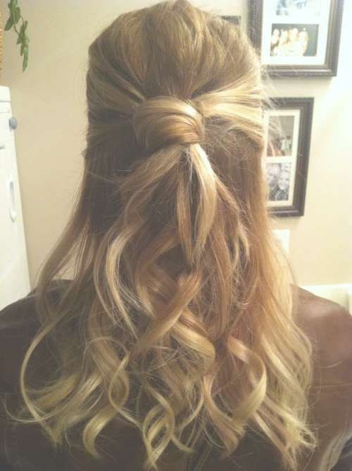 39 Half Up Half Down Hairstyles To Make You Look Perfect Within 2018 Half Long Half Medium Hairstyles (View 2 of 15)