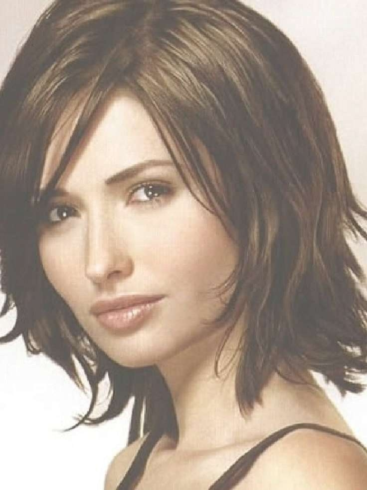 392 Best Unique Hairstyle Ideas Images On Pinterest   Hairstyle Throughout Recent Simple Medium Haircuts For Round Faces (View 21 of 25)