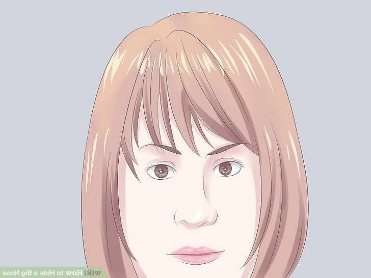 4 Ways To Hide A Big Nose – Wikihow With Regard To Most Up To Date Medium Hairstyles For Big Noses (View 12 of 25)