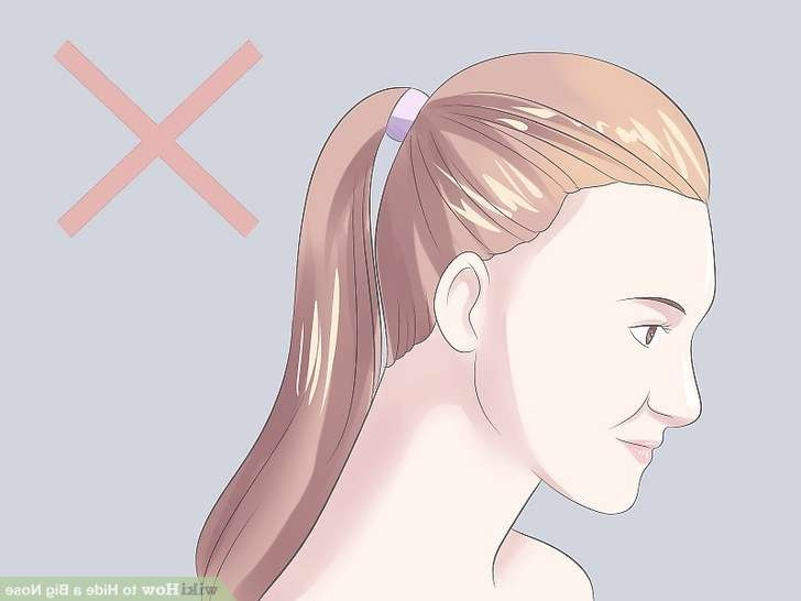 4 Ways To Hide A Big Nose – Wikihow Within Most Popular Medium Hairstyles For Large Noses (View 4 of 15)