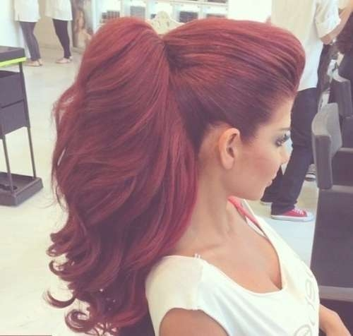 Showing Photos of Bright Red Medium Hairstyles (View 14 of 15 Photos)