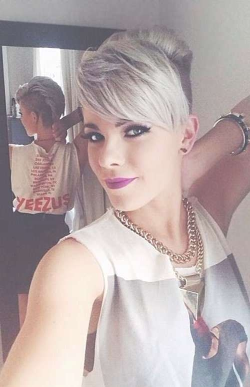 40 Long Pixie Hairstyles | The Best Short Hairstyles For Women For Most Up To Date Medium Hairstyles With Shaved Side (View 10 of 15)
