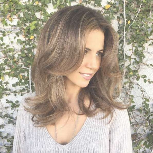 40 Most Flattering Medium Length Hairstyles For Thin Hair – Style For Most Recent Medium Hairstyles Thin Hair (View 18 of 25)