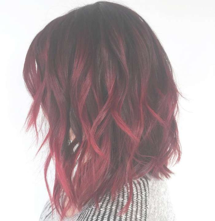 42 Charming Ombre Hairstyles For Women, Ombre Hair Color Within Recent Burgundy Medium Hairstyles (View 8 of 15)