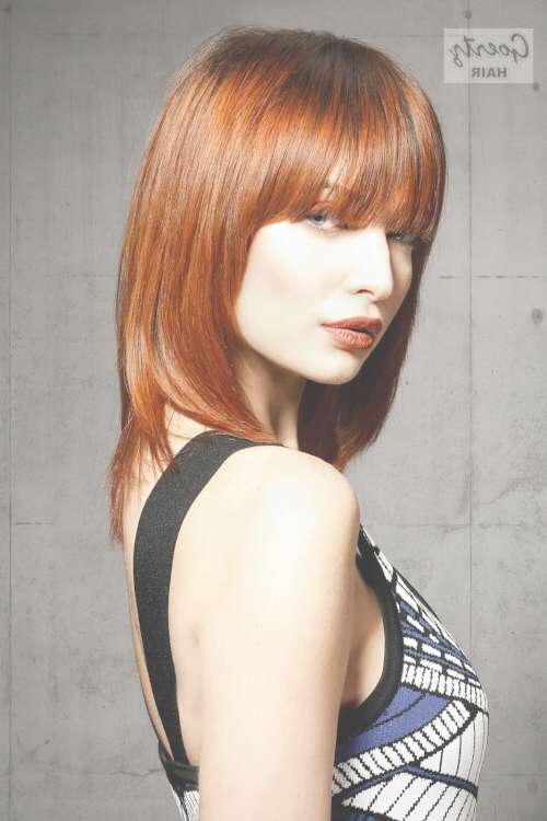 45 Super Cute Medium Haircuts And Hairstyles In Newest Medium Haircuts Styles With Bangs (View 20 of 25)