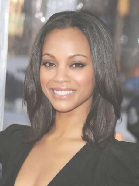 46 Best Medium Hairstyles For Women Images On Pinterest   Medium With Regard To Recent Medium Haircuts For Black Women With Oval Faces (View 3 of 25)
