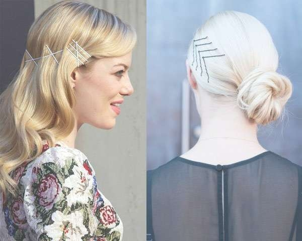 Explore Gallery Of Medium Hairstyles With Bobby Pins Showing 17 Of