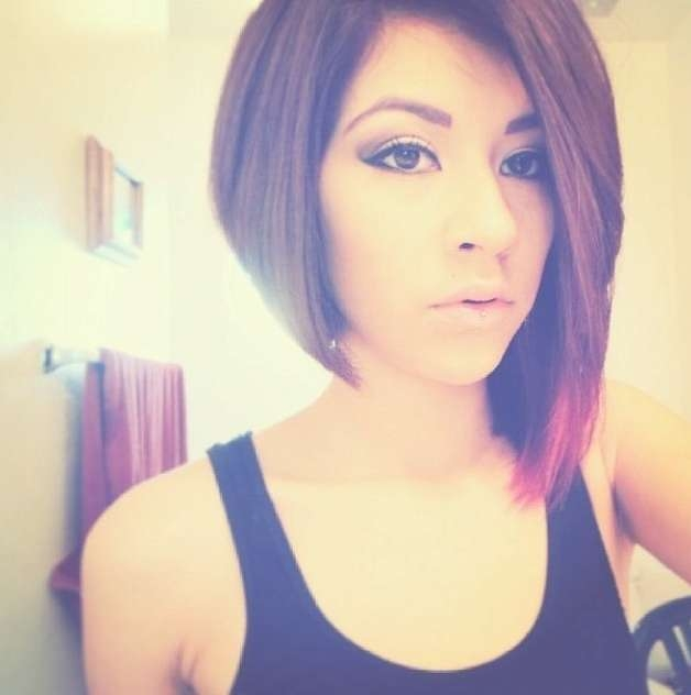50 Adorable Asymmetrical Bob Hairstyles 2018 – Hottest Bob With One Side Longer Bob Haircuts (View 7 of 25)