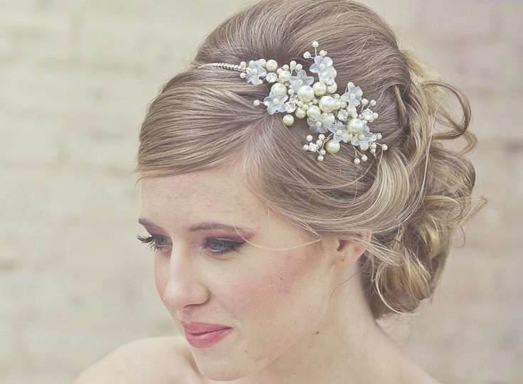 50 Best Wedding Updos Images On Pinterest   Bridal Hairstyles Intended For 2018 Medium Hairstyles With Headbands (View 25 of 25)