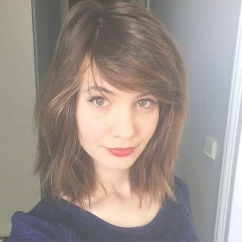 50 Classy Short Bob Haircuts And Hairstyles With Bangs Intended For 2018 Medium Hairstyles With Side Swept Bangs (View 16 of 25)