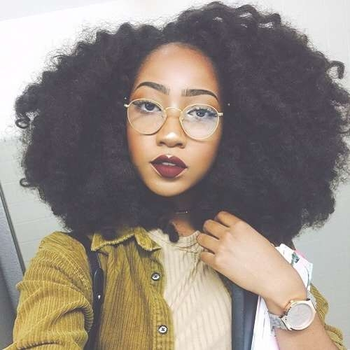 50 Cute Natural Hairstyles For Afro Textured Hair | Hair Motive In Current Medium Haircuts For Kinky Hair (View 8 of 25)