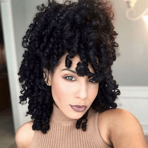 50 Cute Natural Hairstyles For Afro Textured Hair | Hair Motive Within Newest Afro Medium Haircuts (View 20 of 25)