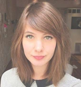 50 Gorgeous Side Swept Bangs Hairstyles For Every Face Shape With Best And Newest Medium Haircuts With Long Fringe (View 21 of 25)