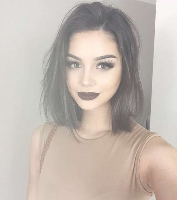 50 Hottest Straight Hairstyles For Short, Medium, Long Hair Intended For Recent Medium Haircuts For Straight Hair (View 10 of 25)