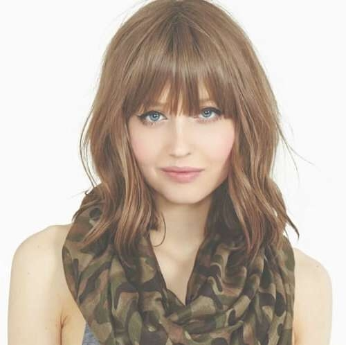 50 Medium Haircuts With Bangs To Bring Movement And Flexibility To With Regard To Newest Medium Hairstyles Without Fringe (View 7 of 25)
